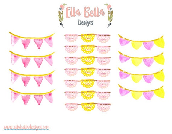 15 Banner Planner Accents, Happy Planner