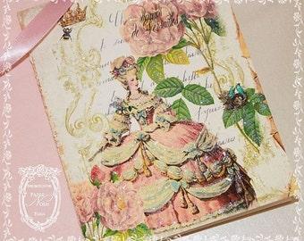 Roses de Peche Francaises de Marie Antoinette Set of Six Cards and Envelope Seals