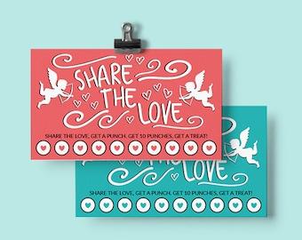 Valentine Reward Cards Printable | Printable Reward Punch Card | Chore Card | Potty Training Card | Behavior Card | Valentine's Day