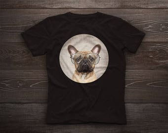French Bulldog t-shirt, Bulldog tshirt, Bulldog tee, pet, dog tee, gift, Frenchies, Frenchie, Bouledogue Français, Frog dog, Clown dog