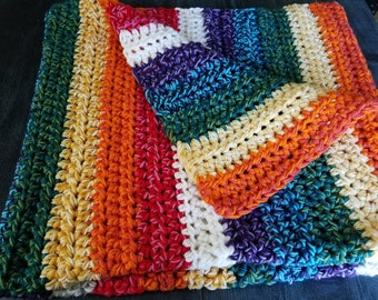 Super Chunky Rainbow Blanket