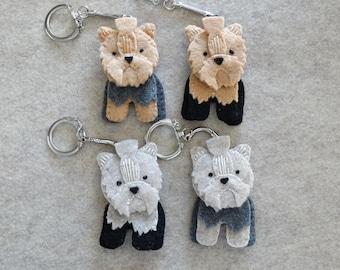 Yorkshire Terrier Felt Ornament Keychain