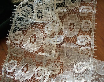 "40"" of a 3""  Deco design antique silver metal lace, more"