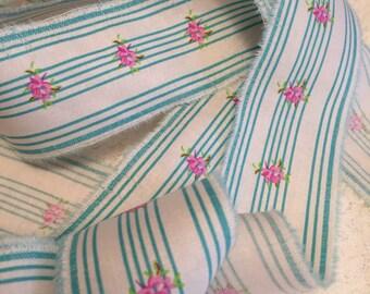 Distressed Fabric Ribbon/Hand Frayed Trim/Paris Inspired Ribbon/French Trim/Fabric Trim/Shabby Ribbon/Fabric Ribbon/Old World Trim