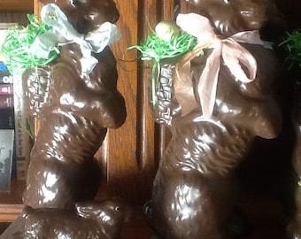 Chocolate bunny, faux chocolate bunnies, bunnies, Easter bunny, Easter decoration