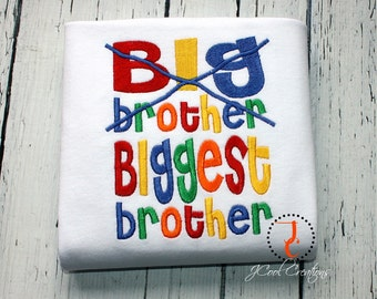 Big Brother Shirt - Biggest Brother, Big Brother T Shirt, Big Brother Gift, Big Brother Announcement, Sibling Outfits, Big Brother Little