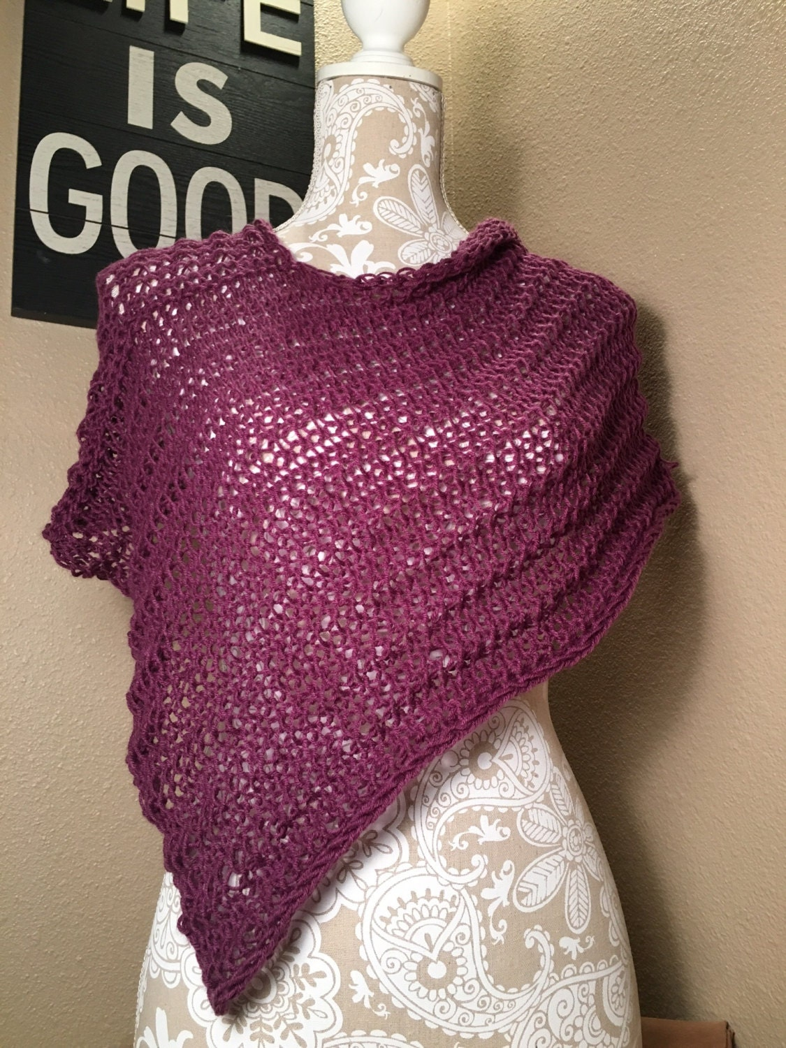 Impatient for Summer Poncho -- a loom knit pattern from ...