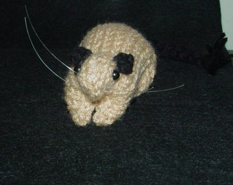 Knitted Gerbil 10 Siamese