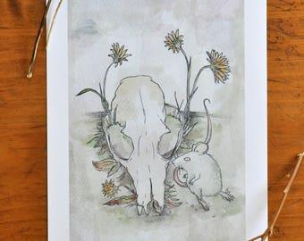 Mouse & Skull Print