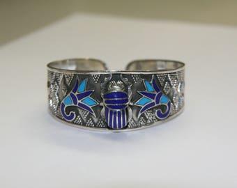 Sterling Silver Beetle Cuff Bracelet