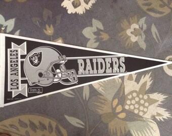 Vintage Los Angeles Raiders Football Pennant