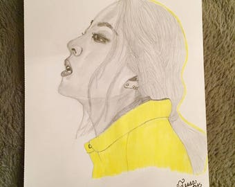 KARD Jiwoo drawing
