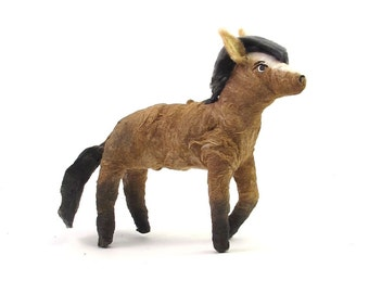 Vintage Style Spun Cotton Horse Figure (MADE TO ORDER)
