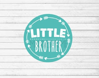 Little Brother Printable Iron on T shirt Transfer - DIY T shirt Decal - Instant Download (Little Brother Arrows)
