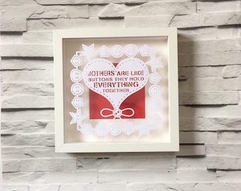 Mothers Day gift, birthday gifts for mums, mothers are like buttons, they hold everything together, mum gifts