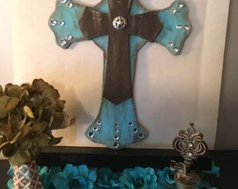 Turquoise Western Cross