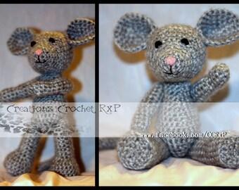 Myo the mouse crochet stuffy stuffed toy plushie knitted