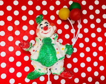 Clown Cake Pick, Cake Decoration, Clown Ornament