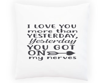 I Love You More Than Pillow Cushion Cover s987p