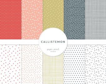 callistemon - digital paper