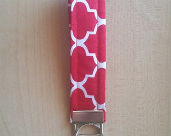 Red and White Key Fob