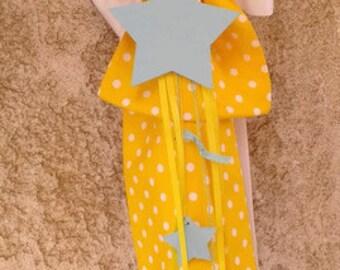 Baptism candle (lambada) decoration/ Wooden stars