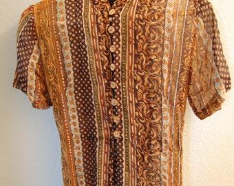 1980's Sheer Slit Dress