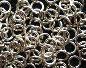 300 -- 18 ga 4.0mm ID Handmade Non Tarnish Silver Jump Rings