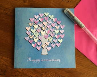 Anniversary card- love tree