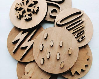 play dough stampers - Weather play dough stamps - play stamps - play dough tools - play dough learning - stocking stuffer