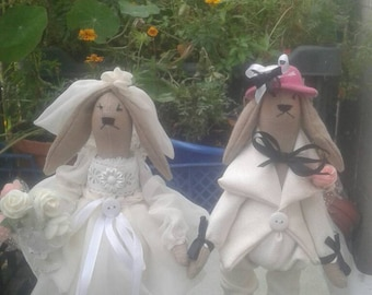 Rabbits-the bride and groom