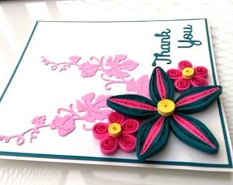 Thank You Quilled Greeting Card