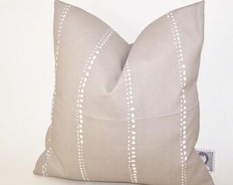 Beige Outdoor Pillow -  Tan PILLOW - Outdoor - Various Sizes - Stripe - Nautical - Seashore - Cove - Accent Pillow - 20x20,18x18,22x22