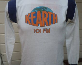 Size M+ (47) ** Rare 1970s K-Earth FM 101 Shirt (World Famous L.A. Deadhead Radio Station) WtPxYs2k