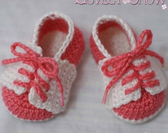 Baby Slippers Crochet Pattern for LITTLE SPORT SADDLES digital