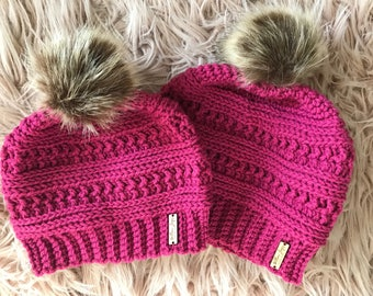 Mommy and Me Beanies, Mommy and Me Slouchy Hats, Mommy and Me Crochet Beanies, Matching Hats