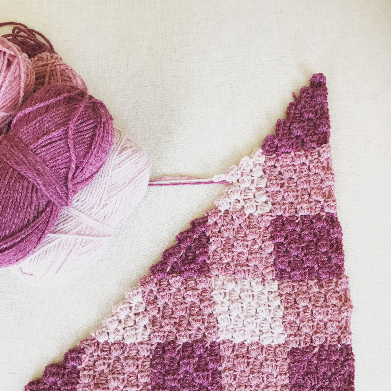 Gingham Crochet Corner to Corner Blanket Pattern 2 graphs