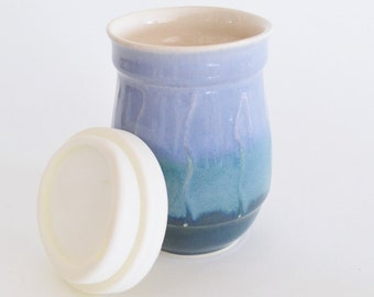 Personalised Ceramic Travel Mug With Silicone Lid