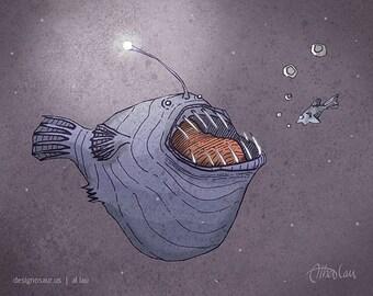 Lantern Fish (8 x 10)