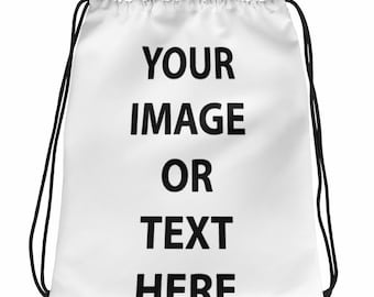 All Over Printed Sublimation Drawstring Bags