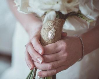 Vintage Wedding Bouquet Locket, Vintage Wedding, Brides Bouquet Locket, Boho Bride