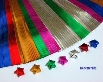 120 strips of Medium Size Origami Foil Paper for folding Lucky Stars. 325mm x 12mm. (FS paper series)