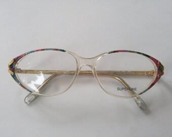 Vintage Cats Eye Glasses Cat Eye Glasses Vintage Eyeglasses Superline Made in France 80s New Old Stock Eyeglasses Vintage Frames Retro