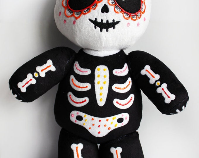Dia de los Muertos (Day of the Dead) Vincent Limited Edition Plush Variant - Red, Organ, Yellow, Pink
