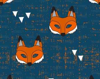 Fox Mask Fabric by littlearrowdesigncompany