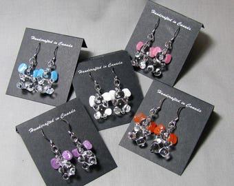 Handcrafted Glass Good Luck Elephant Earrings