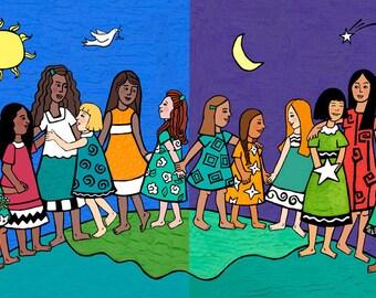 Celebrate Girls Print