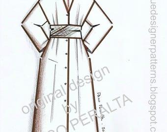 DUSTER-DRESS & SASH pattern.-
