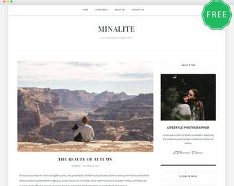 MinaLite - A Clean & Elegant blog theme