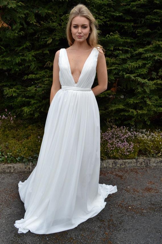 ca0b14bc323 Grecian goddess wedding dress custom made flattering